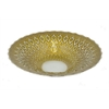 "Benzara 16"" Golden Glass Bowl, Gold"