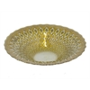 "Benzara 11.75"" Golden Glass Bowl, Gold"