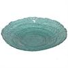 """Benzara 11.5"""" Teal Glass Bowl, Teal"""