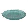 """Benzara 15.5"""" Teal Glass Plate, Teal"""