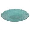 """Benzara 12"""" Teal Glass Plate, Teal"""