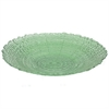 "Benzara 18.25"" Green Glass Plate, Green"