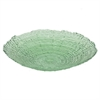 "Benzara 12"" Green Glass Plate, Green"