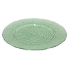 "Benzara 13"" Green Glass Plate, Green"