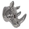 "Benzara 9"" Silver Ceramic Rhino Head, Silver"