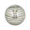 """Benzara 6"""" Silver Glass Orb, Silver"""