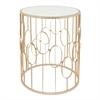 Benzara Elegant Metal Table With Mirror