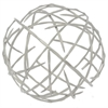 "Benzara 72588 12"" Metal Orb, Nickel"