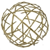 "Benzara 72592 12"" Metal Orb, Antique Brass"