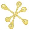 """Benzara 5.75"""" Metal Aluminium Jax, Gold"""