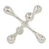"""Benzara 5.75"""" Metal Aluminium Jax, Silver"""