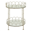 Benzara Stylish Two Tier Mirror Table