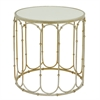 Benzara Alluring Round Mirror Table