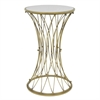Benzara Chic Metal Accent Table With Mirror