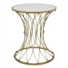 Benzara Enthralling Metal Accent Table With Mirror