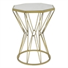 Benzara Alluring Metal Accent Table With Mirror