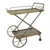 Benzara Smart Metal Rolling Bar Cart