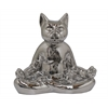 Benzara Ceramic Yoga Cat