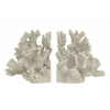 Benzara Remarkable Resin Coral Bookend Set Of 2 - Ivory