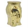 Benzara Gorgeous Ceramic Elephant Garden Seat