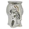 Benzara Dazzling Ceramic Elephant Garden Seat