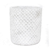 "Benzara 10.3"" Flower Pot, White"