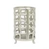 "Benzara 10.5"" Metal Aluminium Lantern, Silver"
