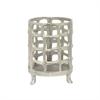 "Benzara 8.5"" Metal Aluminium Lantern, Silver"