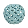 """Benzara 5.75"""" Lite Blue Small Ceramic Orb, Lite Blue"""