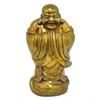 "Benzara 14.5"" Fibber Clay Buddha, Gold"