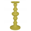 Benzara Stunning Yellow Color Large Resin Candle Holder