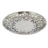 "Benzara 97149 11.75"" Silver Ceramic Plate, Silver"