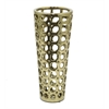 "Benzara 12"" Golden Ceramic Vase, Gold"