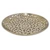 "Benzara 97160 19"" Bronze Ceramic Plate, Bronze"