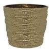 "Benzara 97267 16.5"" Bronze Ceramic Planter, Bronze"