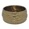 "Benzara 97269 8.5"" Bronze Ceramic Planter, Bronze"