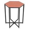 "Benzara 99190 20.25"" Metal Accent Table, Orange"