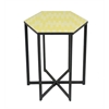 "Benzara 99225 20.25"" Metal Accent Table, Yellow"
