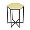 "Benzara 99225 20.25"" Metal Accent Table, Yellow"