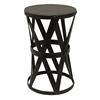 Fashionable Metal Side Table, Black