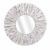 Supreme Sadie White Wooden Mirror, Round in shape