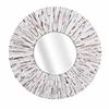 Supreme Sadie White Wooden Mirror, Round in shape