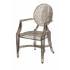 Fashionable Wilkins Handcrafted Metal Arm Chair, Bronze