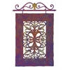 Grand and Rustic Casa Lucia Hanging Panel, Brown, White