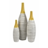 Modernly Designed Andean Multi Glaze Vases-Set of 3