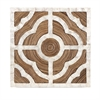 Corsica Capiz Shell Wall Decor, White and natural