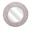 Madiera Waterhyacinth Wall Mirror, Off White