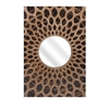 Sunburst Wall Mirror, Brown