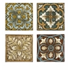 Elegant Casa Medallion Tiles, Multicolor, Set Of 4