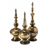Elegant Simone Metallic Finials, Gold Metallic, Set Of 3